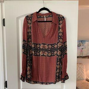 Long Sleeves FREE PEOPLE blouse